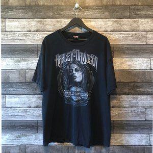 Harley Davidson Black Day of Dead T-shirt